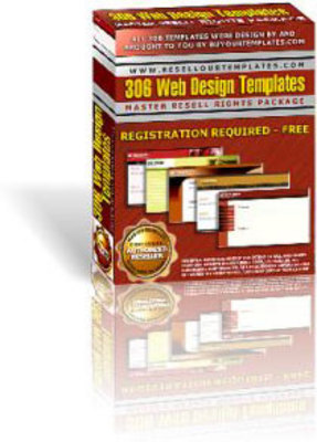 Product picture 306 Web Design Templates Plus Master Resell Right