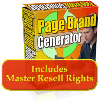 Product picture Page Brand Generator With Resale Right