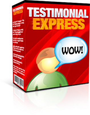 Product picture Testimonial Express With Master Resale Right
