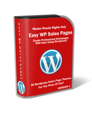 Product picture Easy WP Sales Page With Master Resale Right